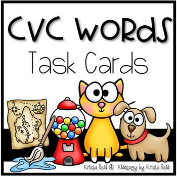 CVC Words - Task Cards - SCOOT