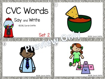 CVC Words Set 2 ~ Task Cards ~ SCOOT center