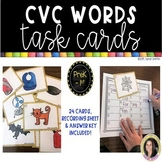 CVC Words ~ Task Cards ~ SCOOT game