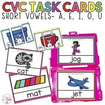 CVC Words- Task cards & Puzzles!