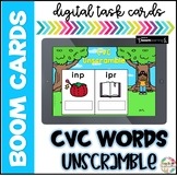 CVC Words Unscramble| Boom Cards| Distance Learning
