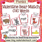 CVC Words - Valentine Bear Match