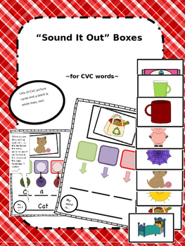 CVC Words - Visual Support for Segmenting, Hearing & Recor