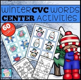 CVC Words Winter Center Activities