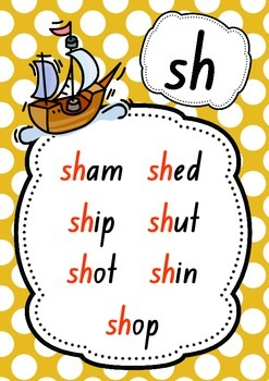 CVC Words With Digraph Phonics 10 Posters