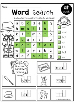 CVC Words ~ Word Search