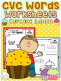 CVC Words Worksheets Cupcake Edition