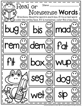 CVC Words Worksheets - Real or Nonsense