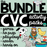 CVC Words Worksheets and Centers