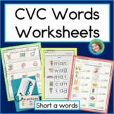CVC Words Worksheets short a
