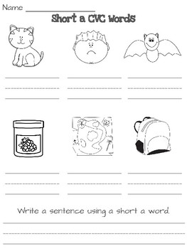 CVC Words-Write and Color