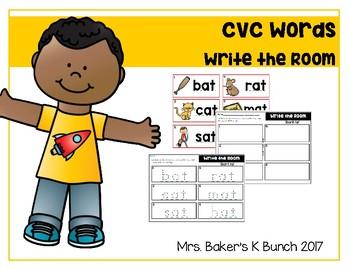 CVC Words ~~~Write the Room