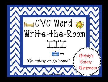 CVC Words Write-the-Room III