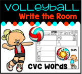 CVC Words Write the Room- Volleyball