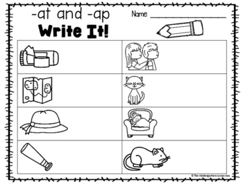 CVC Words Writing Centers