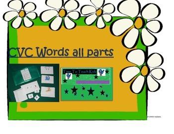 CVC Words all sounds 2nd Version Literacy Center- digital
