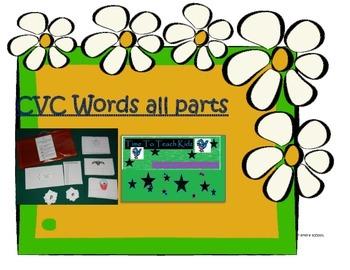 CVC Words all sounds Literacy center Digital Download