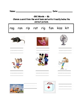CVC Words and Beginning Sounds (Saxon Letter Order)