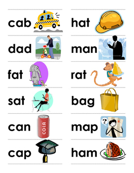 CVC Words and Picture Cards