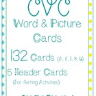 CVC Words and Pictures (132 Cards!)