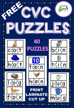 CVC Words and Pictures Puzzles