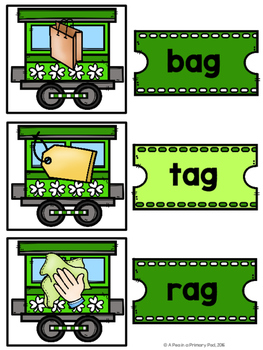 CVC Words and Pictures Sorting Center (March/St. Patrick's Day)