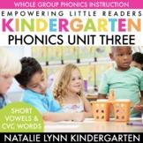 CVC Words and Short Vowels   Kindergarten Phonics Unit 3