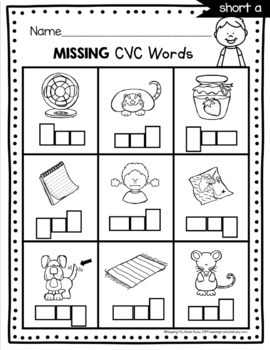 CVC Words and Word Families - Kindergarten Phonics Unit - Centers -  Worksheets