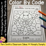 CVC Words -ap Family Short a Color By Codes For Struggling