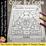 CVC Words -at Family Short a Color By Codes For Struggling