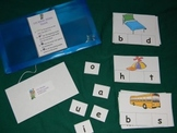 CVC Words middle sounds 2nd Version Literacy Center- Hard Good