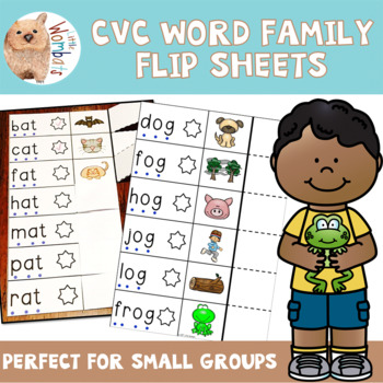 CVC Words (mostly) Flip Sheets - Emergent Readers