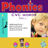 """CVC Words - short """"a"""" Activities - Cutting & Sticking - No Prep!"""