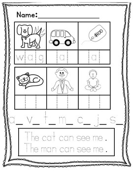 CVC Words with Elkonin Boxes