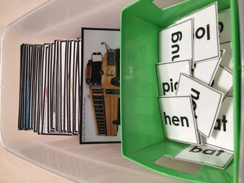 """CVC Words with Pictures READING STRATEGY Task Cards """"Task Box Filler"""""""