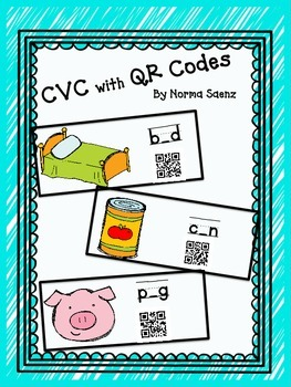 CVC Words with QR Codes