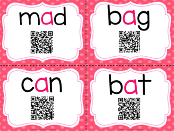 CVC Words with QR Codes Bundle