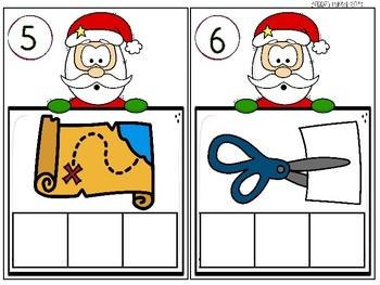 CVC Words with Santa-  December Word Work