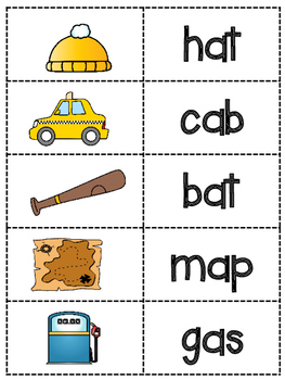 CVC Words with /a/-Lesson Plans and Activities-Common Core and Orton-Gillingham