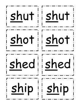 """CVC Words with """"sh"""""""