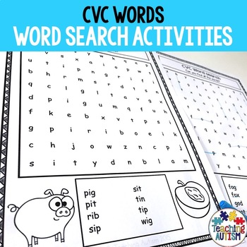 CVC Activities: Word Search