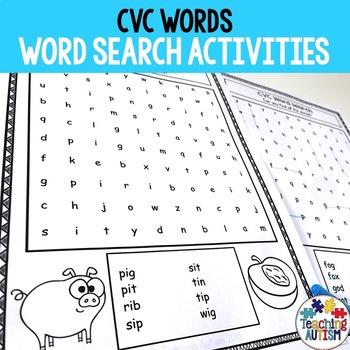 CVC Activities: Word Search