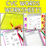 CVC Worksheet Bundle, Printable, No Prep