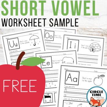 CVC Worksheets, 5 Page Sampler