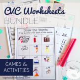 CVC Worksheets And Games Bundle