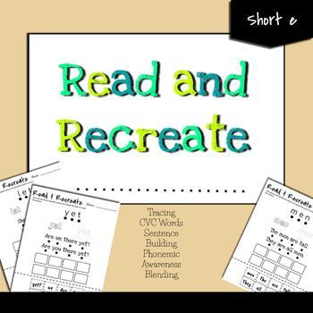 CVC Worksheets Building, Reading, Blending!!! (Short e)