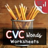 CVC Worksheets DOLLAR DEAL - Short vowels - Kindergarten F