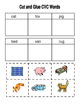 CVC Worksheets-Kindergarten/First by Susan Falvey | TpT