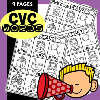 CVC Words Worksheets Phoneme Segmentation