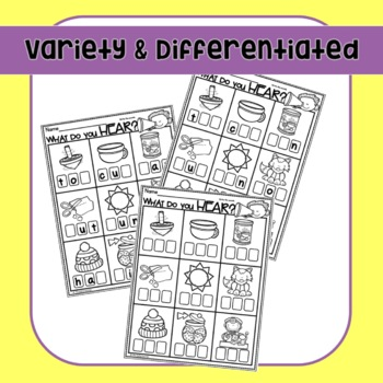 CVC Words Worksheets Phoneme Segmentation